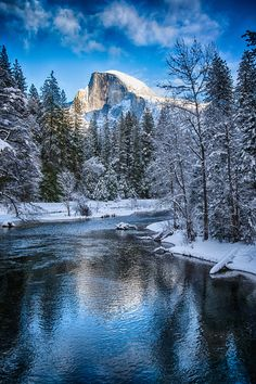 halfdome reflection by Jingjing Li on 500px