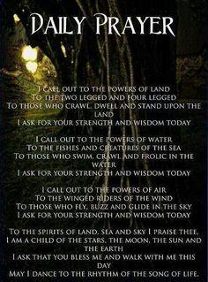 Book of Shadows:  #BOS Daily Prayer page.