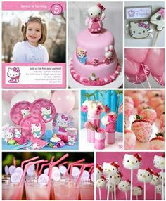 A guid to hosting your own Hello Kitty Party. Because every little girl deserves a pretty, pink, hand-made Hello Kitty Party! With tutorials and links. Kitty Party, Girl Birthday, Birthday Parties, Birthday Ideas, Hello Kitty Birthday Party Ideas, Fourth Birthday, Birthday Cake, Just In Case, Just For You