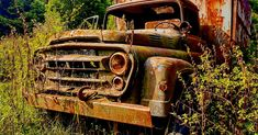 Abandoned, Monster Trucks, Vehicles, Left Out, Car, Ruin, Vehicle, Tools