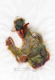 Sienkiewicz- Indiana Jones Comic Art