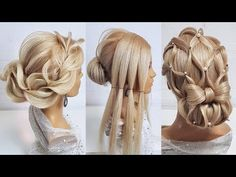 Top 5 Most Beautiful Hairstyles for Prom.Beautiful hairstyles step by step New Bridal Hairstyle, Wedding Hairstyles, Evening Hairstyles, Braided Hairstyles, Hair Barber, Wedding Hair And Makeup, Hair Videos, Hair Designs, Prom Hair