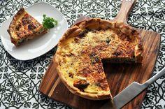 Spinach, Zucchini, Broccoli & Mushroom Quiche
