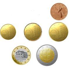 monedas euro serie Andorra 2014 (6 monedas)