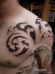 Amayra Tattoo Art Camaleón · 3D barroco