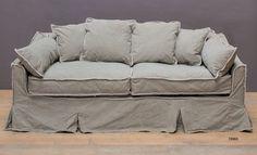 Divano lino grigio salvia - Linen sofa http://www.griffegenova.com/Griffe_Home/Divani_pint_new.html