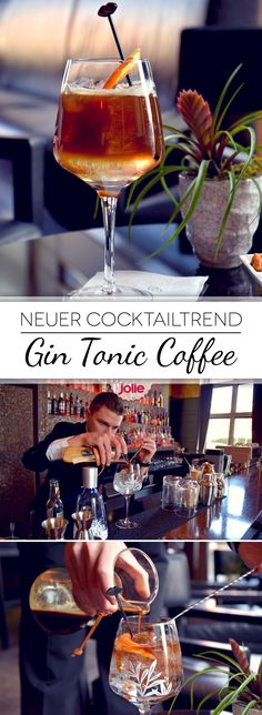 Perfekt für den Frühling: Nach dem Abendessen einen Gin Tonic Coffee und man ist fit für die Nacht! Rezept und Zubereitungsvideo hier