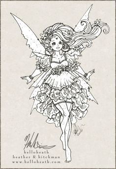 Image Detail For Autumn Fairy Ink By Helloheath On DeviantART Adult Coloring PagesColoring SheetsColoring