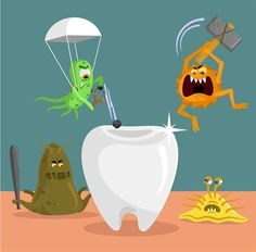 Did you know that it's not really sugar that's attacking your teeth? Instead, BACTERIA eat the sugars found in all of the foods you eat, creating acids that wear away your enamel and cause cavities.