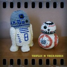 These are the Droid you are looking for... #freepattern #crochet From trifles to treasures