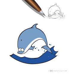Charakter Design  #vectorgraphics #dolphin #margithaslauer Sonic The Hedgehog, Snoopy, Illustration, Fictional Characters, Design, Art, Art Background, Kunst