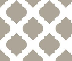 Ottoman fabric.  Medallions in Mushroom fabric by katphillipsdesigns on Spoonflower - custom fabric