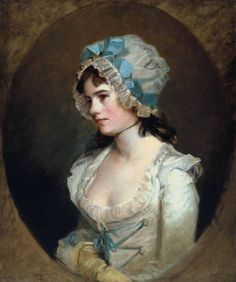 John Hoppner portrait of  Mrs Williams circa 1790 (Tate Gallery) - love the ribbon at the front