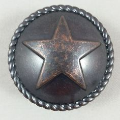 Texas Knobs Texas Star Cabinet Hardware Knob CP214ORB | Western ...