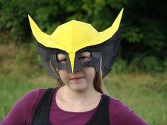 Printable DIY Template  Hawkgirl Helmet Mask by Paperstatue