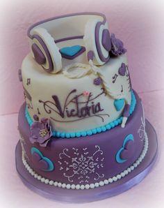Violetta cake Music Themed Cakes, Music Cakes, How To Stack Cakes, Fancy Cakes, Cupcakes, Cupcake Cakes, Violetta Torte, Rock Star Cakes, Create A Cake