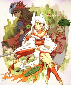Oki, Ama, and Waka