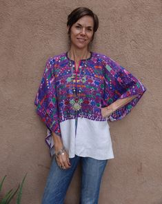Guatemalan Textiles, Levis Jean Jacket, Cultural Identity, Hand Weaving, Caftans, Fabric, Cotton, How To Wear, Etsy