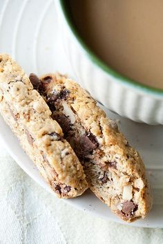 Cappuccino Biscotti. I JUST made these...so scrumptious! mmmmm with coffee and Baileys or English Breakfast Tea!