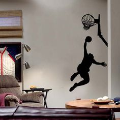 Slam Dunk Wall Decal Wall Sticker...my son would LOVE this!
