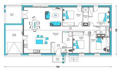 House Layout Plans, House Layouts, House Construction Plan, Habitats, Floor Plans, How To Plan, Deco, Garden, Narrow House