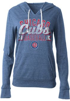 Chicago Cubs Womens Blue Tri-Blend Hoodie Cubs Hoodie 1a684f6f35e4