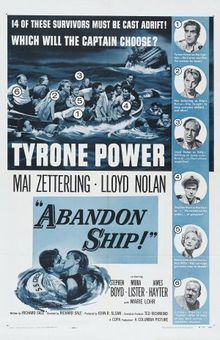Abandon Ship! (Seven Waves Away) - USA/UK (1957) Director: Richard Sale *Note: There is a DVD of this title manufactured in Spain (Region 2). For more information, click on the poster.