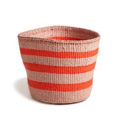 Orange Striped Basket - Kenya
