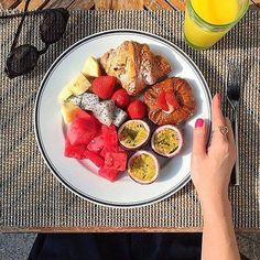 """Knock knock. """"Room service!"""" Thank you @secretsquirrelfood for sharing your @FSDoha breakfast with us. Tag your Four Seasons breakfast with #wakeupwithFS and we'll reblog our favourite again next week. Hotels-live.com via https://www.instagram.com/p/BAFTe"""