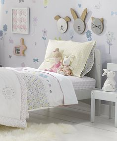 Printed Butterfly Cotbed Junior Bed Duvet Set By Union