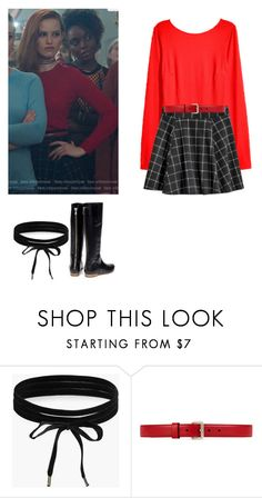 """Cheryl Blossom - Riverdale"" by shadyannon ❤ liked on Polyvore featuring H&M, Boohoo, Gucci and Rupert Sanderson"