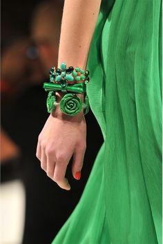 Blugirl, Green, Details, Runway,