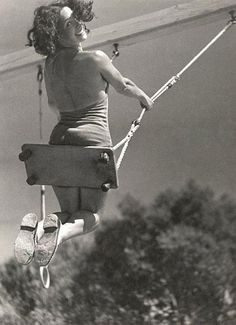 1934 ~ Lily on the Swing ~ Photo by Andre Steiner ~