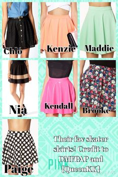 Comment down below which one of their skater skirts is your favourite! To be honest , all of them look amazing! ALL CREDIT goes to QueenKK & DMFPAP!