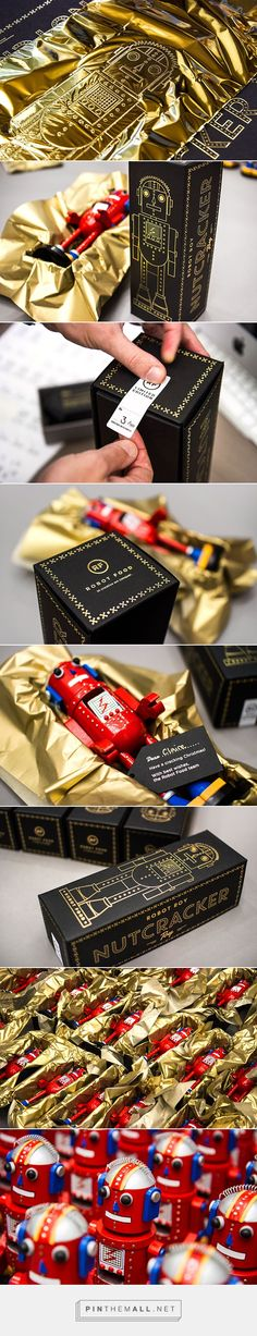 Robot Roy, The Nutcracker Toy || Weekly packaging inspiration for everyone! Introducing Moire Studios a thriving website and graphic design studio. Feel Free to Follow us @moirestudiosjkt to see more outstanding pins like this. Or visit our website www.moirestudiosjkt.com to know more about us. #packaging #graphicDesign ||