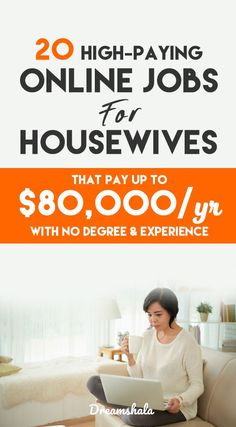 20 high-paying online jobs for housewives. Earn Money From Home, Way To Make Money, Make Money Online, Legit Work From Home, Work From Home Moms, Jobs For Housewives, Easy Business Ideas, Best Online Jobs, Freelance Writing Jobs
