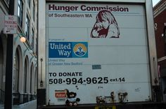 Graham is catching a ride on the Hunger Commission Truck!