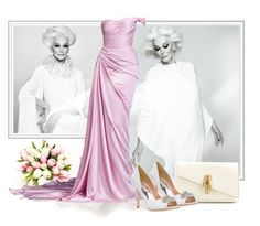 """""""OVER FIFTY AND FABULOUS Carmen Dell'Orefice"""" by fashionrushs ❤ liked on Polyvore featuring Hamda Al Fahim and Badgley Mischka"""