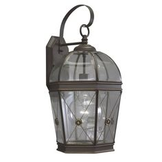 @Overstock - This traditional wall fixture features a single light in a clear beveled glass shade. A rich painted Olde Bronze finish gives this wall lighting a vintage look that will accentuate any outdoor setting.http://www.overstock.com/Home-Garden/Olde-Bronze-Transitional-1-light-Outdoor-Wall-Fixture/7602438/product.html?CID=214117 $89.99
