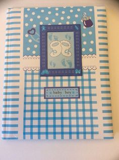 Baby Boy Record Book Gift Memory Journal Never Used Spiral Book Older Style  | eBay