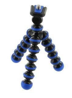 Flexible Tripod (Dark Blue / Black) for Sony Cybershot DSC-W220 Digital Camera Light Blue