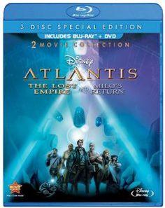 Atlantis: The Lost Empire / Atlantis: Milos Return: Two-Movie Collection (Three Disc Blu-ray / DVD Combo) Blu-ray ~ Michael J. Dvd Disney, Disney Blu Ray, Disney Movies, Collection Disney, Movie Collection, Two Movies, 2 Movie, Movies, United Kingdom