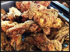 Lucy's Fried Chicken  Lucy's Fried Chicken, up close and personal. Come on over and start your week off right with us!