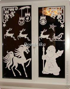 Украшение Новый год Рождество Вырезание Зимняя сказка Бумага фото 1
