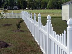 images of gothic fence styles | Spaced French Gothic Concave – Hoover Fence Co.- Vinyl Fence