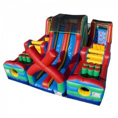 Largest inflatable obstacle course rental in Los Angeles, rent the Extreme Rush Obstacle only at Magic Jump Rentals. Inflatable Obstacle Course, Inflatable Water Park, Inflatable Bounce House, Inflatable Bouncers, Giant Inflatable, Bouncy House, Bouncy Castle, Bounce House Rentals, Barbie