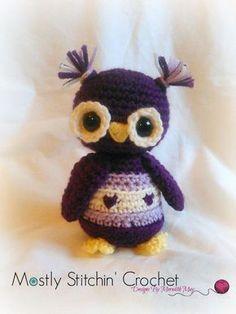 Sweet heart Owl CROCHET PATTERN PDF