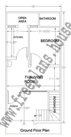 Feet Ground Floor Plan, is part of House plans - One Floor House Plans, 20x30 House Plans, 2bhk House Plan, House Plan With Loft, Free House Plans, Simple House Plans, Model House Plan, House Layout Plans, Duplex House Plans