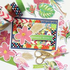 Another easy washi tape card. The idea for this one came from an awesome YouTube tutorial. #hobbyhoppers #washitape