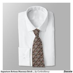 Signature Artisan Masonry Brick Pattern Necktie. Signature Artisan Masonry Brick Pattern Necktie. Men's Neckties. Fashion. Men's Fashion. Designer Ties. Neckties. Browse the Corbin Henry Signature Collection by clicking the link above. #neckties #DesignerNeckties